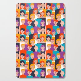 Colorful people pattern Cutting Board
