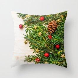 Christmas Photography - Christmas Tree Laying Down Throw Pillow