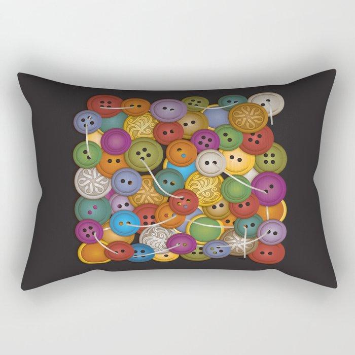 Buttons Rectangular Pillow