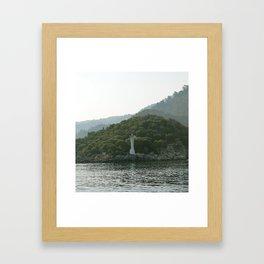 Lighthouse of Solitude Framed Art Print