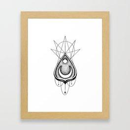 Dotwork Planchette Framed Art Print