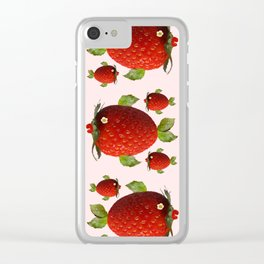 Strawberry Fish Fantasy Clear iPhone Case