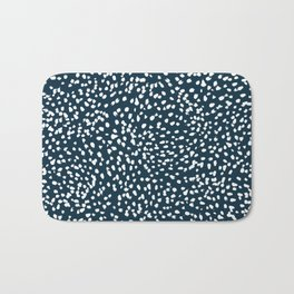 Navy Dots abstract minimal print design pattern brushstrokes painterly painting love boho urban chic Bath Mat
