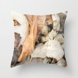 Underwater leaf Throw Pillow
