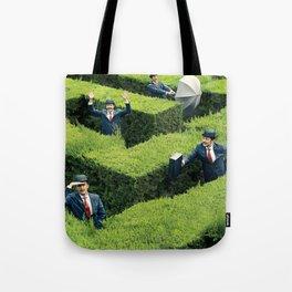 Funny man in Maze Tote Bag