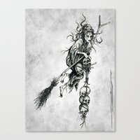 witch Canvas Prints featuring Witch by Elias Aquino
