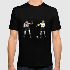 Floral fight - humor MEDIUM Black Mens Fitted Tee