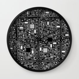 Serious Circuitry Wall Clock