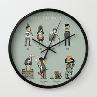 murakami Wall Clocks featuring The Wind-up Bird Chronicle by Kensausage