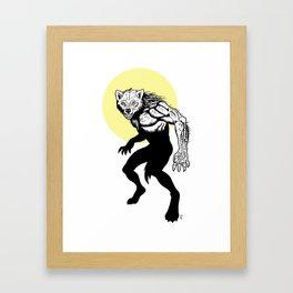 Loup-garou Homme Framed Art Print