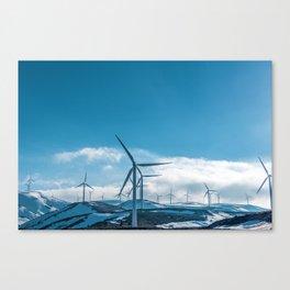 The Wind Farm (Color) Canvas Print