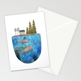 Whales are watching you Stationery Cards