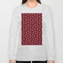 Grain Splash in Brick Red Long Sleeve T-shirt