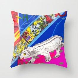 White Bear Throw Pillow