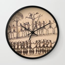 Ceremony; Hunting possum by Tommy McRae, 1880 Wall Clock