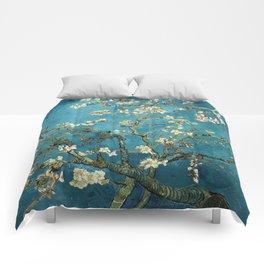 Blossoming Almond Trees, Vincent van Gogh. Famous vintage fine art. Comforters