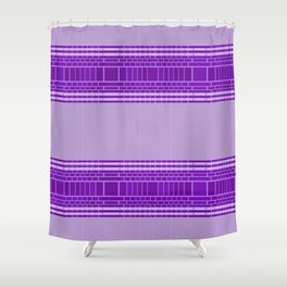 Plum Urban Geometric Shower Curtain