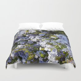 a violet flower in the heart of Athens Duvet Cover