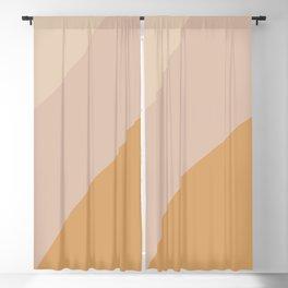 Warm Neutral Color Block Blackout Curtain