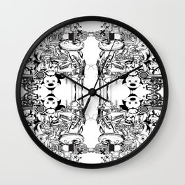 Blueprint Destruction  Wall Clock