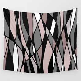 Abstract Mosaic (Pink, Grey, White) Wall Tapestry