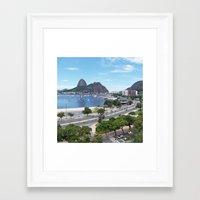 rio de janeiro Framed Art Prints featuring Rio de Janeiro Landscape by Fernando Macedo