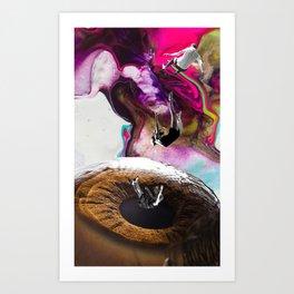 CAIDA A UN ABISMO OCULAR Art Print