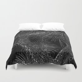 Joshua Tree Silver by CREYES Duvet Cover
