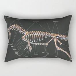 Dilophosaurus Wetherilli Skeleton Study Rectangular Pillow