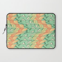 Emerald and salmon pattern Laptop Sleeve