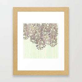 Wisteria - a thing of beauty is a joy forever Framed Art Print