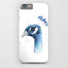 Peacock Watercolor Painting Bird Animal Slim Case iPhone 6s