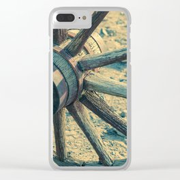 Old Wheel Clear iPhone Case