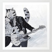springsteen Art Prints featuring New Jersey's Kitty Springsteen  by Rothco Press
