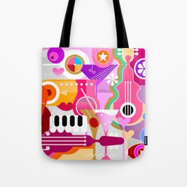 Cocktails and Music Tote Bag