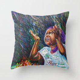 Healing Rain Throw Pillow