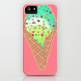 Neon Cones iPhone Case