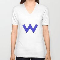 nintendo V-neck T-shirts featuring Nintendo Wario by JAGraphic