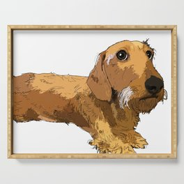 Dachshund dog Serving Tray