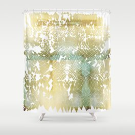 Fractured Gold Shower Curtain