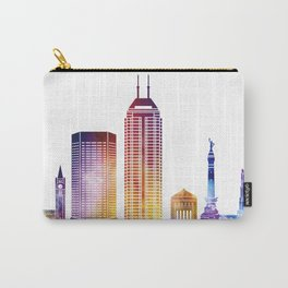 Indianapolis landmarks watercolor poster Carry-All Pouch