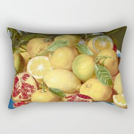 Still Life with Lemons, Oranges and a Pomegranate Rectangular Pillow