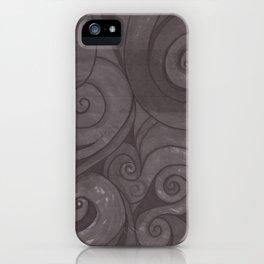 Black on black iPhone Case