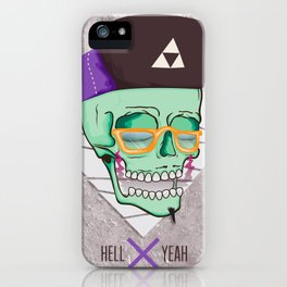 Hell Yeah Skull 3 iPhone Case