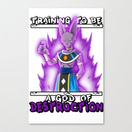 Training to be a God of Destruction - Beerus Canvas Print
