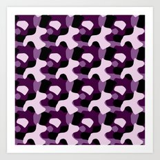 Purple Camo Pattern Art Print