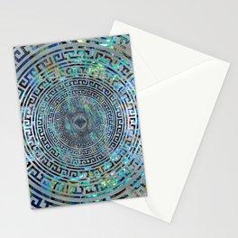 Circular Greek Meander Pattern - Greek Key Ornament Stationery Cards