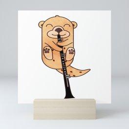 Sweet Otter Clarinet Kids Music Gift Mini Art Print