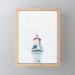 Split Point Lighthouse Framed Mini Art Print