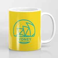 sydney Mugs featuring Sydney by BMaw